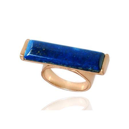 Nova Semi Precious Stone Ring - Lapis Lazuli