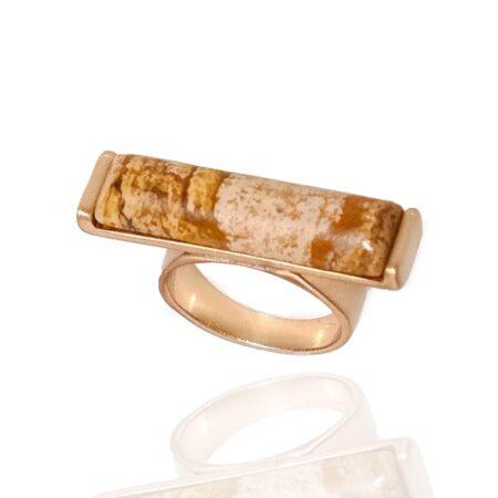 Nova Semi Precious Stone Ring - Picture Jasper