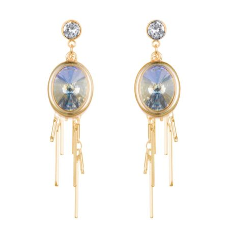 Oval Cluster Earrings - Aurora & Gold