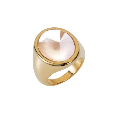 Oval Ring - Gold with Cream