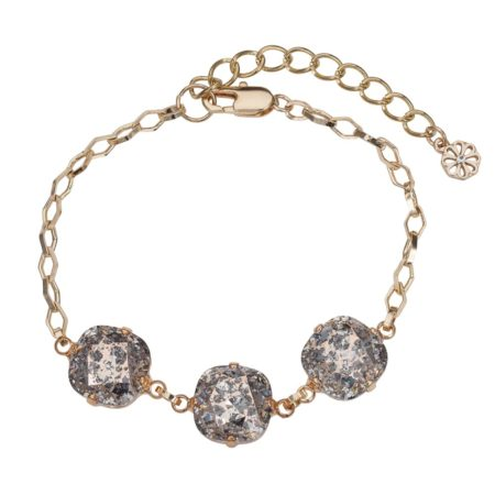 Patina Cushion Stone Bracelet Rose Gold