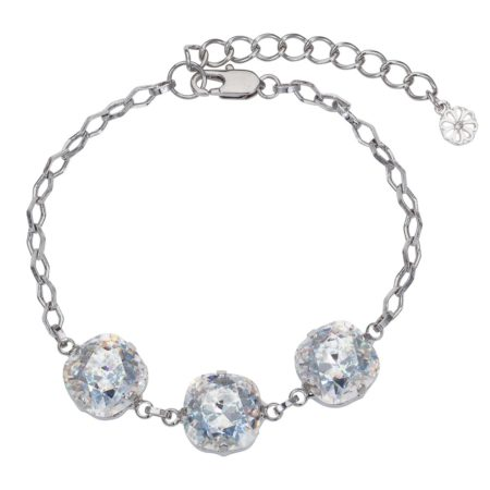 Patina Cushion Stone Bracelet Silver