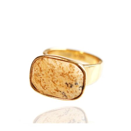 Semi Precious Picture Jasper H Ring