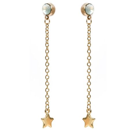 Skinny Star Earrings Gold