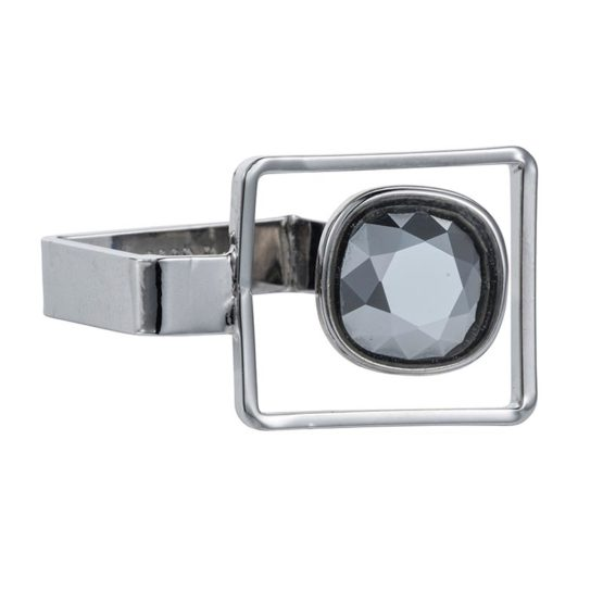 Square Frame Ring Chrome - 002