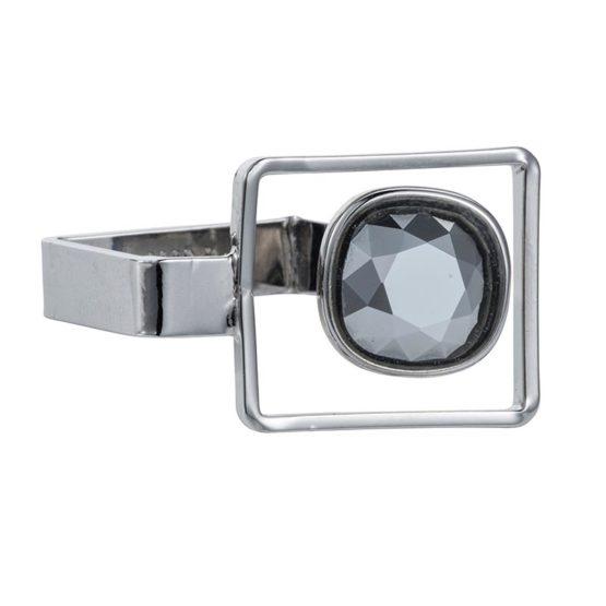 Square Frame Ring Chrome - 002