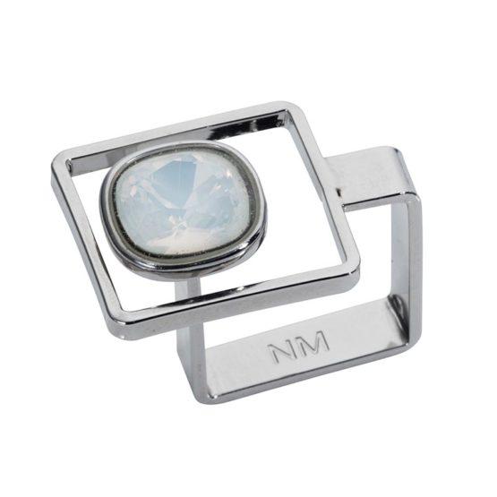 Square Frame Ring Opal White - 001
