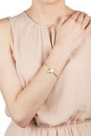 Square Stone & Glass Pearl Bracelet Lemon B