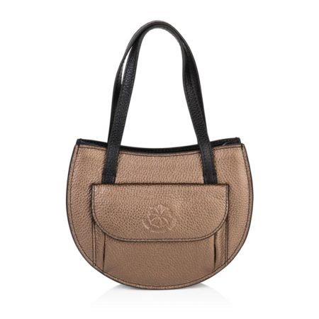 Barbara Half Moon Bag - Bronze