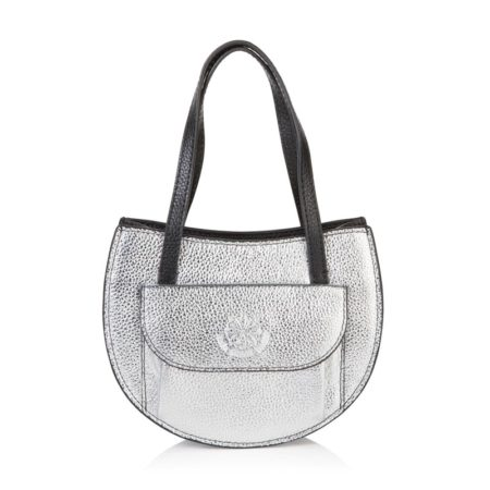 Barbara Half Moon Bag - Silver