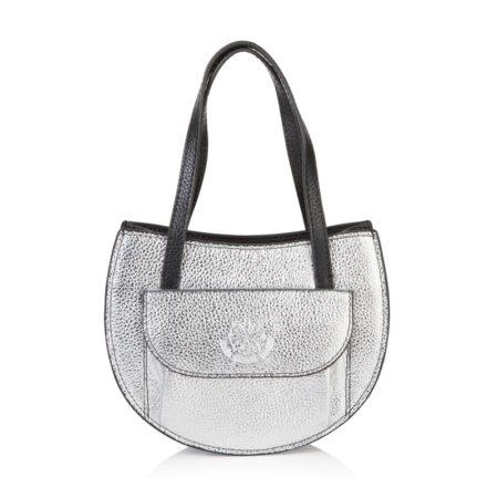 Barbara Half Moon Bag - Silver