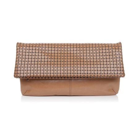 The Cut Clutch Nude