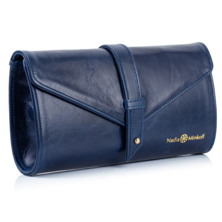 The Newington Clutch Bag - Navy - 01