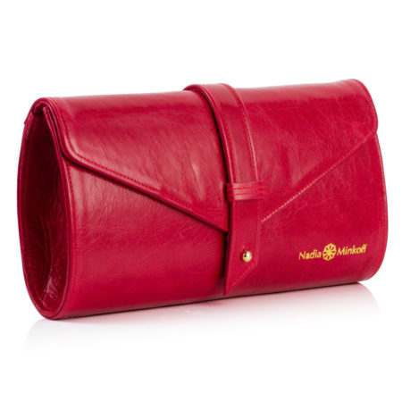 The Newington Clutch Bag - Red - 01