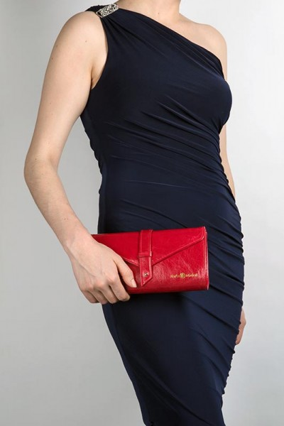 The Newington Clutch Red Lookbook
