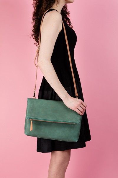 The Rena Bag Moss Green Lookbook