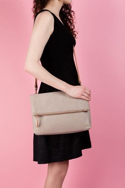 The Rena Bag Taupe Lookbook