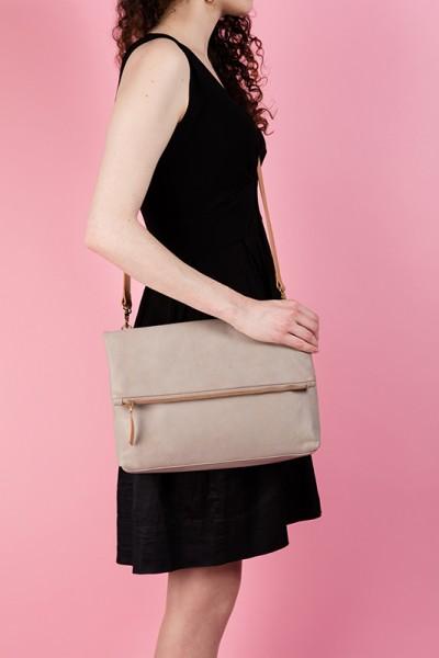 The Rena Bag Taupe Lookbook