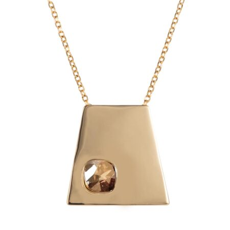 Trapezium Necklace - Gold
