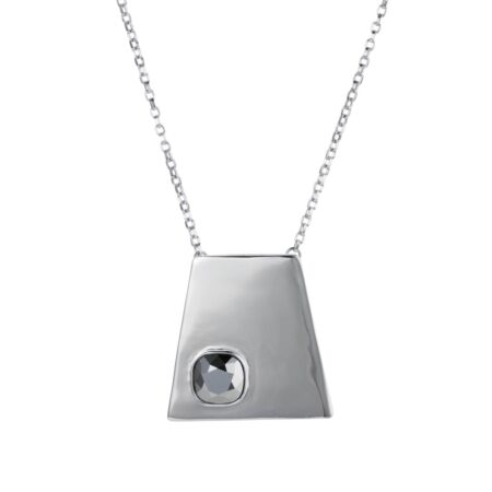 Trapezium Necklace - Silver