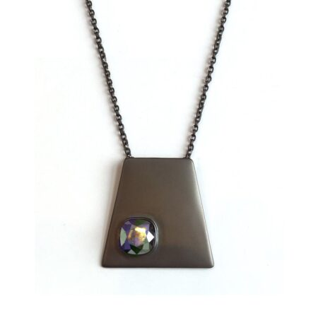 Trapezium Necklace - Gunmetal