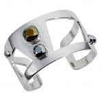 Wide Statement Cuff Chrome Silver - 001