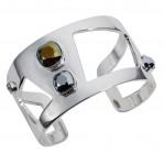 Wide Statement Cuff Chrome Silver - 001