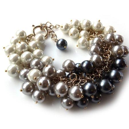 'I Made It!' Ombre Pearl Cluster Bracelet