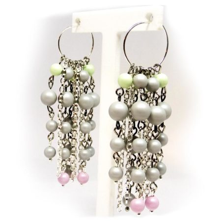 'I Made It!' Pearl Hoop Chandelier Earrings