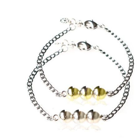 Pearl Duo Bracelet - Yellow & Pearl - Silver