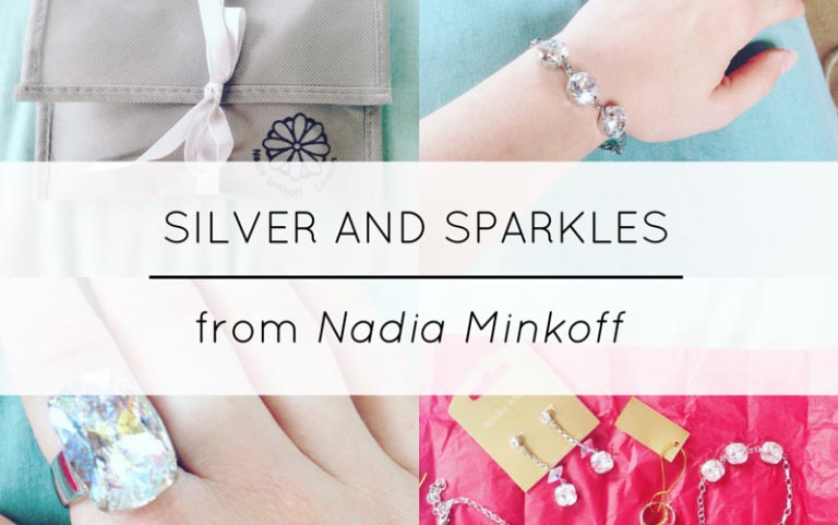 silver and sparkles blog header