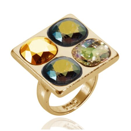 Squared Up Ring - Iridescent Green