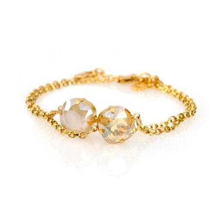 Stacking Duo Bracelet - Golden Shadow & Cream