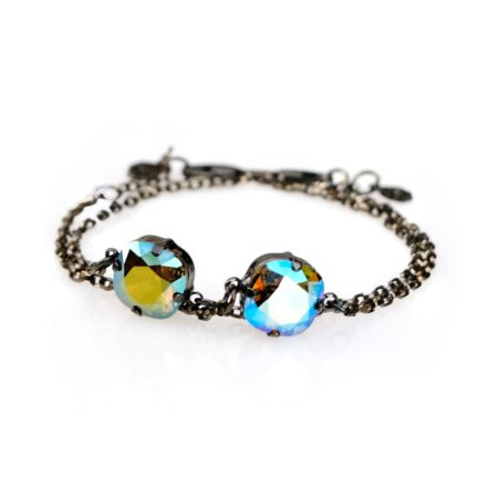 Stacking Duo Bracelet - Blue Shimmer & Green